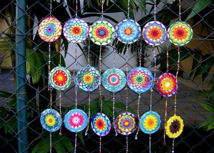 mandalas_decorativas_com_cds_Reciclar CDs